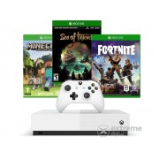 Consola Microsoft Xbox One S 1TB All Digital + Minecraft + Sea of Thieves + Fortnite skin