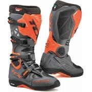 TCX Comp Evo 2 Michelin Motocross Boots Grey Orange 42