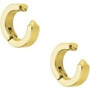GadgetsDen Gold Clip-on Press Unisex Stud Fashion non-piercing hoop earrings