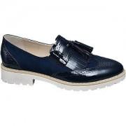 Graceland Blauwe brogue loafers franjes Graceland maat 40