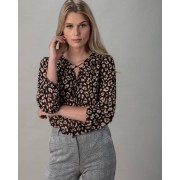Judith Williams Bluse mit Kordel zum Binden braun female 50