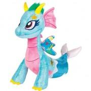 Geen Speelgoed glitter draken knuffels 25 cm Sea Sparkle blauw/roze