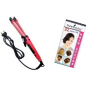 Style Maniac Professional Hair straightener Cum Curler SM-NHC-1818 With an attractive freebie hairstyle booklet