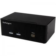 StarTech.com Switch Commutatore a 2 porte - KVM USB 2.0 a doppio VGA con Hub USB a 2 porte e 3,5mm audio
