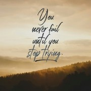 5 Ace you never fail until you stop trying wall sticker poster motivational and inspirational(size:12x18 inch) multicolo