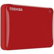 Външен твърд диск Toshiba Canvio Alu 2TB Red, 2.5 инча, Червен, HDTH320ER3AB
