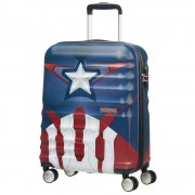 American Tourister Trolley Cabina 55cm 4 Ruote Leggero 2,6kg - Disney Marvel Captain America