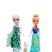 VSHINE Fashion Doll Frozen Sister Anna & Elsa with Olaf