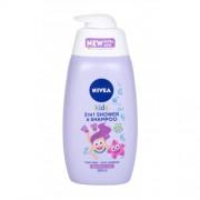 Nivea Kids 2in1 Shower & Shampoo 500 ml jemný sprchový gel a šampon 2 v1 pro děti
