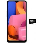 Samsung Galaxy A20s A207/DS, 32GB/3GB RAM Dual SIM 6.5''HD+ Snapdragon 450, Desbloqueado de fábrica (versión Internacional), 32GB + 64GB SD Bundle, Azul
