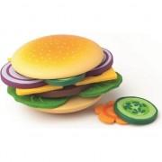 Joc de preparat hamburger Woodyland din lemn