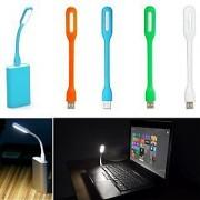 USB LED Light Flexible (Set Of 2) (Assorted Color)