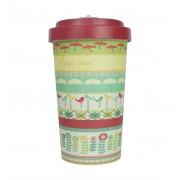 Woodway coffee to go beker bamboe Carpe Diem - rood - 500 ml