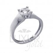 Mohutný zásnubní prsten bílé zlato se zirkonem 1261015-0-53-1