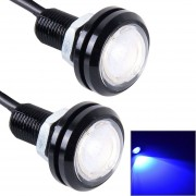 2 Pcs 2x 3W 120LM Impermeable Ojo De águila Luz LED De Luz Blanca Para Vehículos, Longitud De Cable: 60cm (azul)