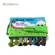 Kidsbele Baby Cloth Book Toys Children Educational Soft Rattles Fabric Crocodile Learning Stereo Quiet Book Baby Toy