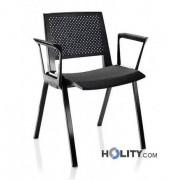 Sedia Per Riunioni Di Design Con Braccioli H44926