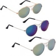 Phenomenal Oval Sunglasses(Green, Blue)