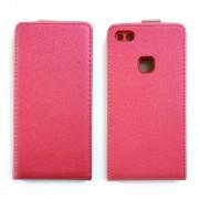 Вертикален флип калъф с магнитна закопчалка за Huawei P10 Lite - Червено - розов
