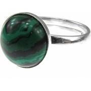 Inel argint reglabil cu malachit 10 MM GlamBazaar Reglabila cu Malachit Verde tip inel reglabil de argint 925 cu pietre naturale
