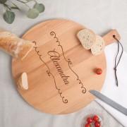 YourSurprise Planche à pain - Hêtre - Rond (M)