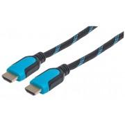 Cavo HDMI 2.0 High Speed con Ethernet con Connettore Azzurro 2m
