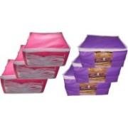 Kristina Garments cover High Quality Garments Covers 03 pcs pink 03 pcs Purple Garments cover nwvn(Pink, Purple)