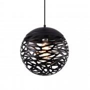 [lux.pro]® Dekoratívna dizajnová design závesná lampa HT169912 - čierna (1 x E27)