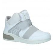 Geox Witte Hoge Sneakers met Lichtjes