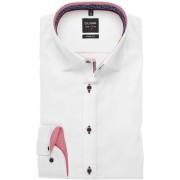 OLYMP Level Five Body Fit Hemd weiss, Einfarbig Herren 38 - S weiss
