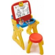 Tablita de desenat si pupitru birou Grown Up cu scaunel si accesorii scris incluse