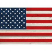 Bellatio Decorations Horizontale vlag poster USA 84 cm
