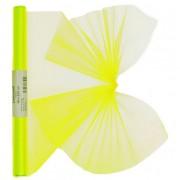 Geen Neon gele organza op rol 40 x 200 cm