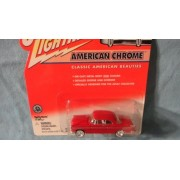 JOHNNY LIGHTNING 1:64 SCALE AMERICAN CHROME SERIES RED 1955 CHRYSLER C-300 DIE-CAST COLLECTIBLE