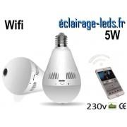 Ampoule LED E27 5W Caméra de surveillance Wifi ref e27-02