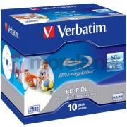 Medii de stocare verbatim Blu-ray BD-R DL caz 10 50GB (43736)