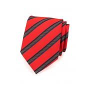 Pánská kravata červená s pruhy v modré Avantgard 561-9454