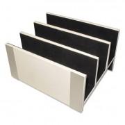 Architect Line Letter Sorter, 3 Compartments, 6 3/4 X 8 3/4 X 5, White/silver