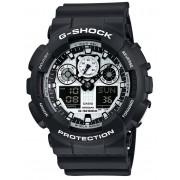 Ceas barbatesc Casio GA-100BW-1AER G-Shock 51mm 20ATM