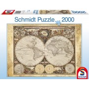 Puzzle Harta istorica a lumii 2000 piese