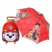 Paw Patrol MARSAL ghiozdan Troller cu umbrela inclusa