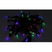 Mini Lucciole 60 Led Multicolori RGB Forma Punta di Frecca Goccia Pioggia Per Natale Festa Decorativa Filo Nero 8,8 metri Uso Interno CS31064