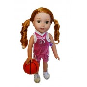 My Brittany'S Pink Basketball Outfit for Wellie Wisher Dolls