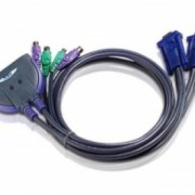 KVM Switch CS62S - Numar PC-uri conectabile 2 - Rezolutie maxima 2048 x 1536 pixeli - Conectori PC 2 x PS/2 Keyboard mini-Din 6 pin