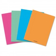 Caiet A5, 36 file - 80g/mp, liniat stanga, coperta PP transparent color, AURORA - dictando