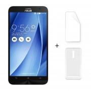Asus ZenFone 2 ZE551ML 5,5 Pulgadas 4 GB RAM 32 GB ROM Android 5.0 Plata + Protector De Pantalla + Estuche