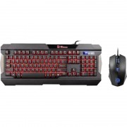 Kit tastatura si mouse Gaming Thermaltake Tt eSPORTS Commander Gaming Gear Combo Multi Light