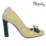 Pantofi dama din piele naturala 24706/Bej-Negru/Corsica