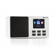 "Auna IR-110 интернет радио 2.4"" TFT цветен дисплей батерия WLAN USB бяло (KC12-IR-110 WH)"