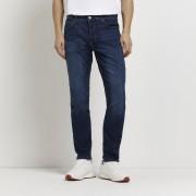 River Island Mens Dark Blue slim fit Dylan jeans (28R)